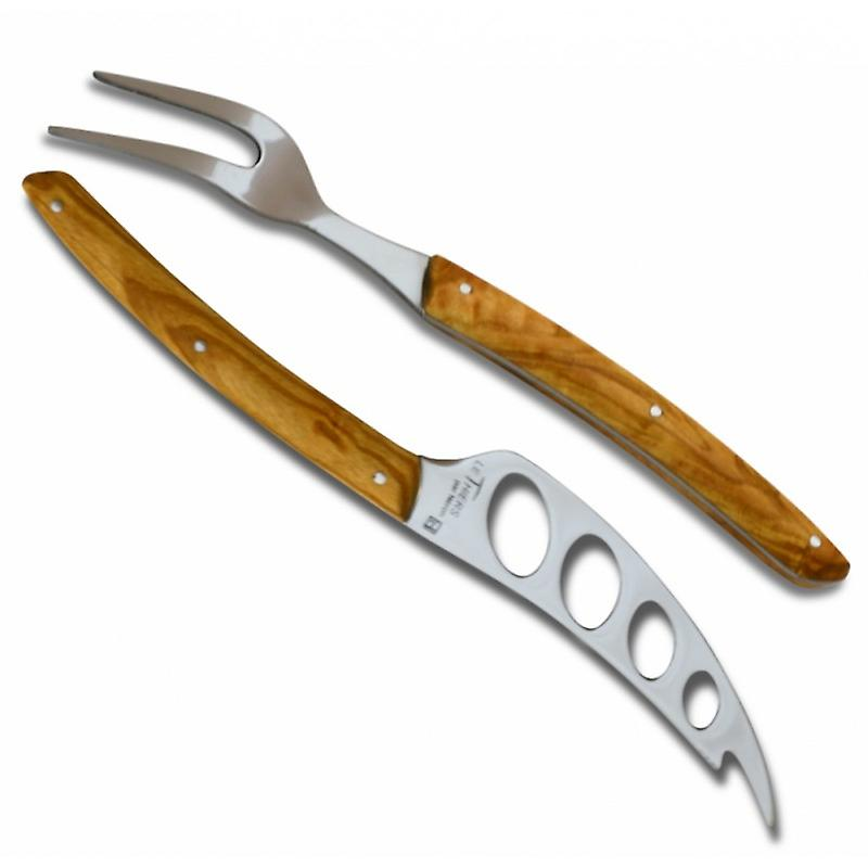 Thiers cheese set - Olive wood handle Direct from France
