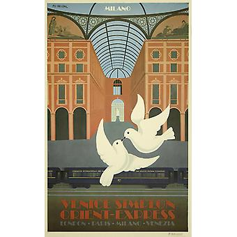 Venice Simplon Orient Express Milano Poster Print Giclee