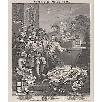 William Hogarth - The Third Stage of Cruelty Poster Print Giclee