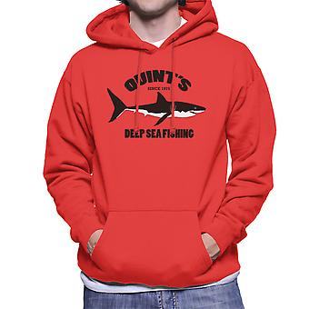 Quints Deep Sea Fishing Jaws Men's Hooded Sweatshirt