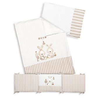 Interbaby Coordinated Max 3 pieces 70x140 (Duvet) Model Baby Bunny