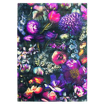 Shadow Floral Purple Wool Rugs - Ted Baker 58005