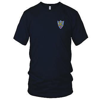 E.U. da Marinha USS DDR-879 Patch Bordado Leary - Mens T-Shirt