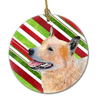 Australian Cattle Dog Candy Cane Holiday Christmas Ceramic Ornament LH9227