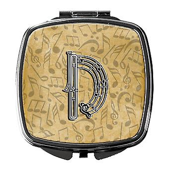 Letter D Musical Instrument Alphabet Compact Mirror