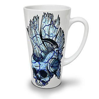 Punk Music Metal Skull NEW White Tea Coffee Ceramic Latte Mug 17 oz | Wellcoda