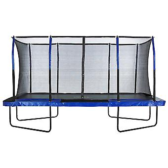 Upper Bounce® Easy Assemble Mega 8' X 14' Rectangular Trampoline, with Fiber Flex Enclosure System