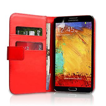 Samsung Galaxy Note 3 Leather-Effect Wallet Case - Red