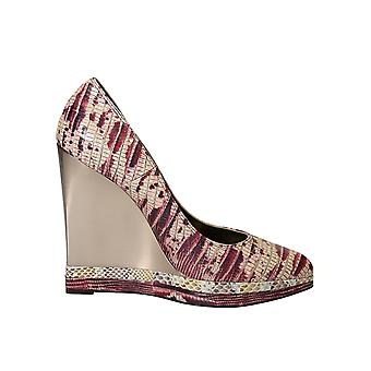 Lanvin ladies AW5E2MYERP7A multicolour leather wedge heel