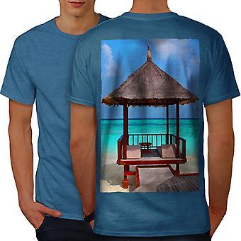 Sea Holiday Photo Men Royal BlueT-shirt Back   Wellcoda