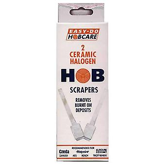 Pack of 2 Easy Do Hobcare Ceramic Halogen Hob Scrapers from Caraselle