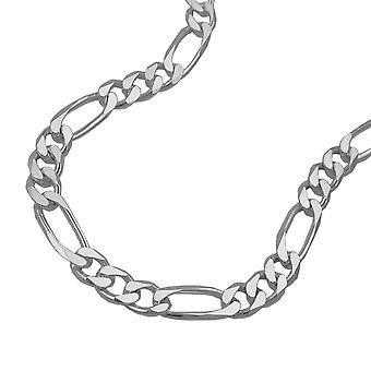 Figaro Kette flach Silber 925 Armband 19cm