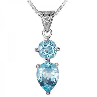 Shipton og Co lyse blå Topaz med keltisk stil nuancer