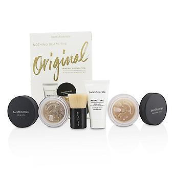 Bareminerals Get begonnen minerale Foundation Kit - middellange Tan # 18 - 4-pack