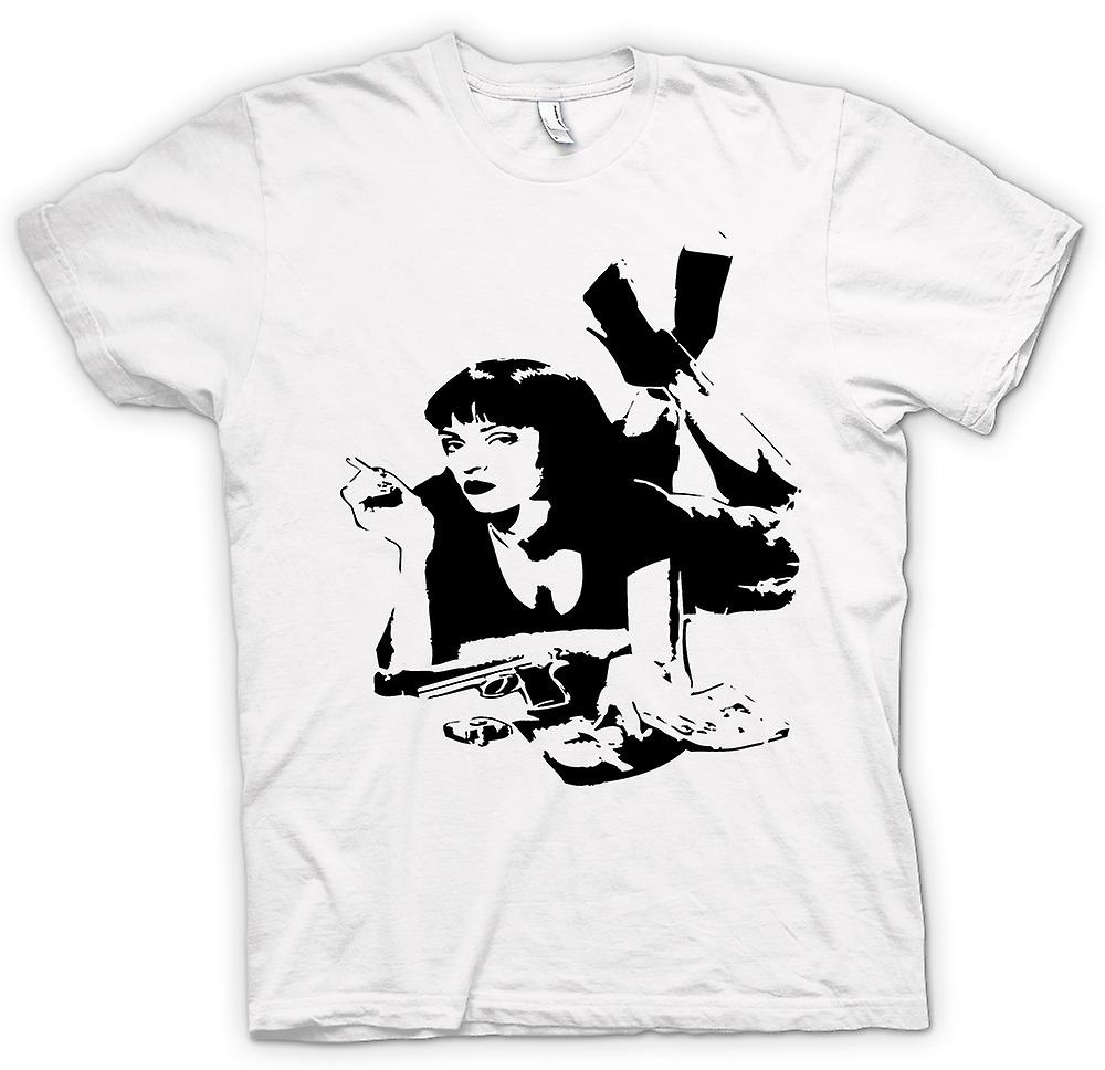 Womens T-shirt-Pulp Fiction - Mia Wallace - Stencil