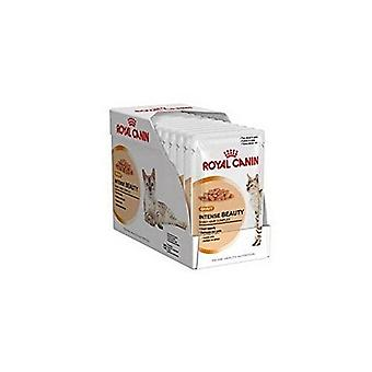 Royal Canin Intense Beauty Gravy Cat Food 12 x 85g (1.02kg) (Pack of 4)