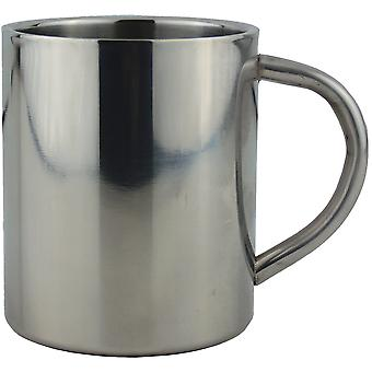 Yellowstone 300ml Stainless Steel Camping Mug Silver