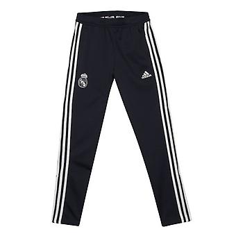 2018-2019 Real Madrid Adidas Training gestrickt Präsentation Hose (dunkelgrau) - Kinder