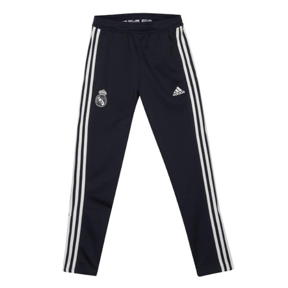 2018-2019 Real Madrid Adidas Training Knitted Presentation Pants (Dark Grey) - Kids