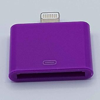 30 Pin Naar Lightning compatible (8 Pin) Kabel Adapter - Voor Ipad / iPhone - Paars