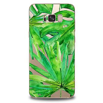 Tropical Forest-Transparent TPU cases Samsung Galaxy S8