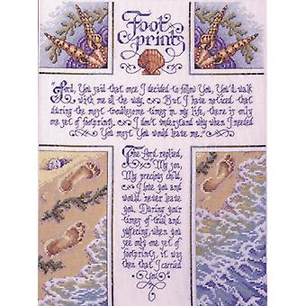Footprints Counted Cross Stitch Kit-10.5