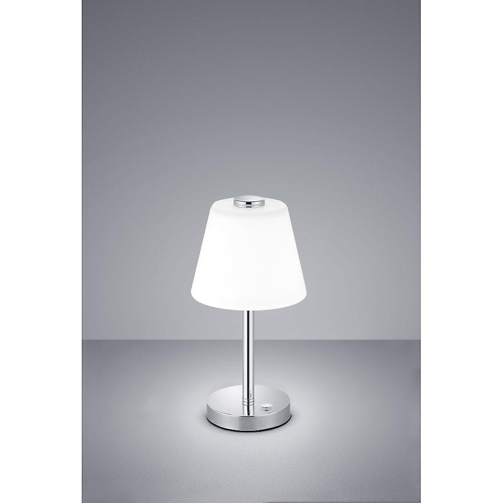 Trio lumièreing Emerald Modern Chrome Metal Table Lamp