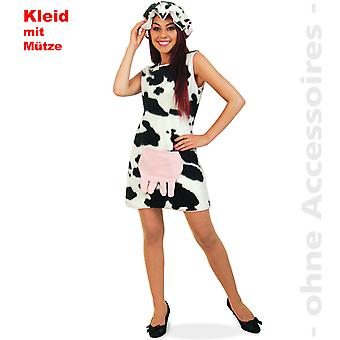 Cow costume ladies udder cow spots cow dress animal farm Lady costume