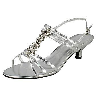 Spot di Ladies in larga misura Diamante Strappy sandalo con tacco