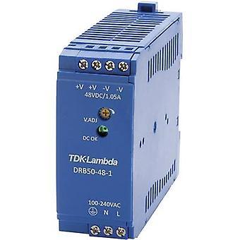 TDK-Lambda DRB-50-48-1 Rail mounted PSU (DIN) 48 Vdc 1.05 A 50.4 W 1 x