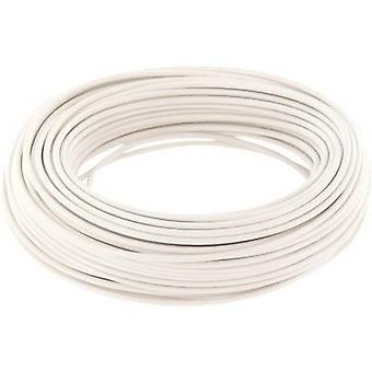 Jumper wire 1 x 0.20 mm² White BELI-BECO D 105/10 10 m