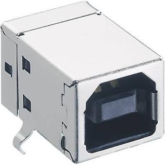 Lumberg 2411 03 USB 2.0 conector zócalo, zócalo de montaje horizontal tipo B, ángulo