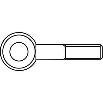 M4 x 15 mm Galvanised Steel Lifting Eye Bolts (50 pc(s))