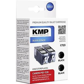 KMP Ink replaced Canon PGI-520 Compatible Dual Bla