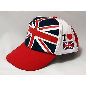 Union Jack yo use gorra de béisbol de Gran Bretaña de amor