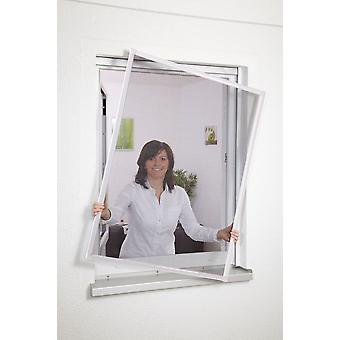 White aluminium window Kit fly mesh insect protection 80 x 100 cm