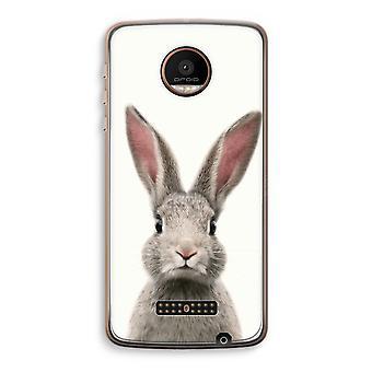Motorola Moto Z Force Transparent Case (Soft) - Daisy