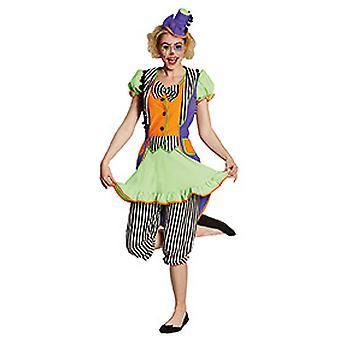 Clown dress neon ladies costume fool Carnival Carnival circus