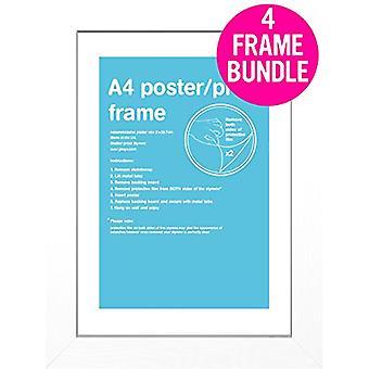 GB plakater 4 hvid A4 MDF plakat rammer 29,7 x 21cm bundt