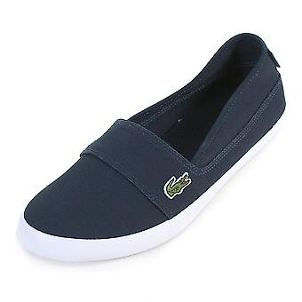 Lacoste Women's Marice BL 2 Canvas Slip On Espadrille Navy