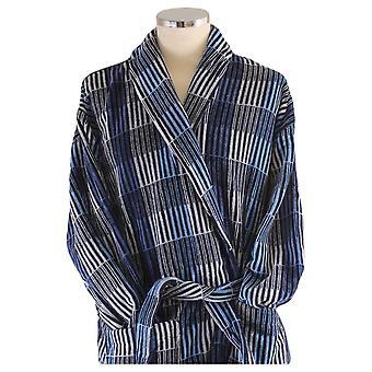 Bown de Londres Hereford Check lujo bata - azul/gris