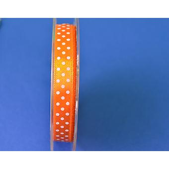 9.5mm oransje Polka Dot sateng Craft bånd - 10m | Bånd & bukker for håndverk