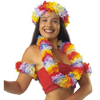 Hawaii set 4 pz. Partito di luau party Hula Aloha fiori spiaggia