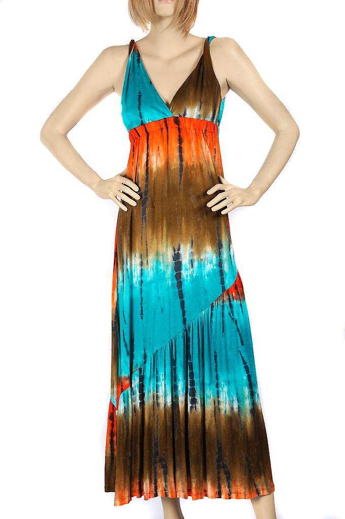 Waooh - Fashion - long brown gradient blue dress