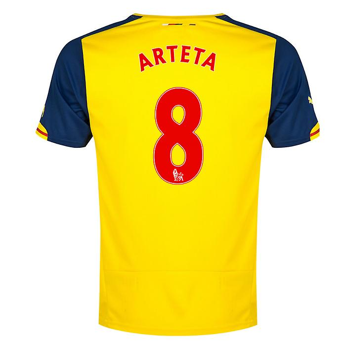 2014-15 Arsenal Away Shirt (Arteta 8) - Kids