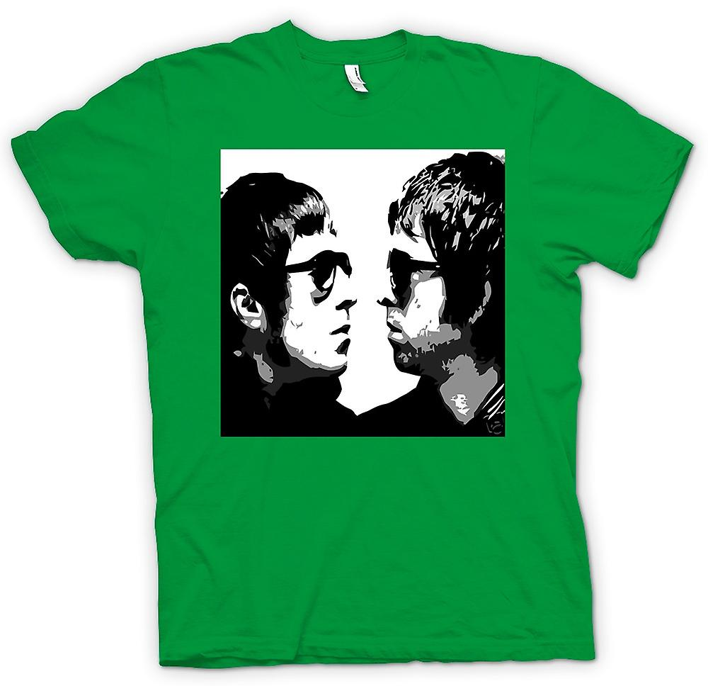 Mens T-shirt - Liam and Noel - Oasis