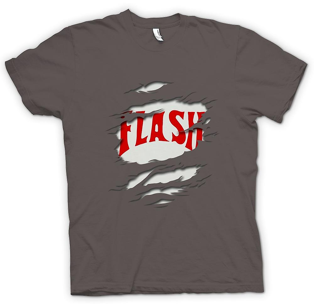 Mens T-shirt - Flash Gordon - Ripped Effect