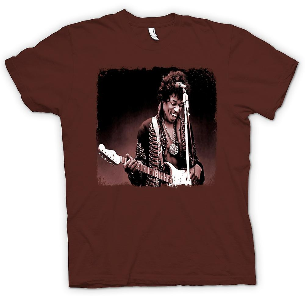 Mens T-shirt - Jimi Hendrix - Sepia - Portrait
