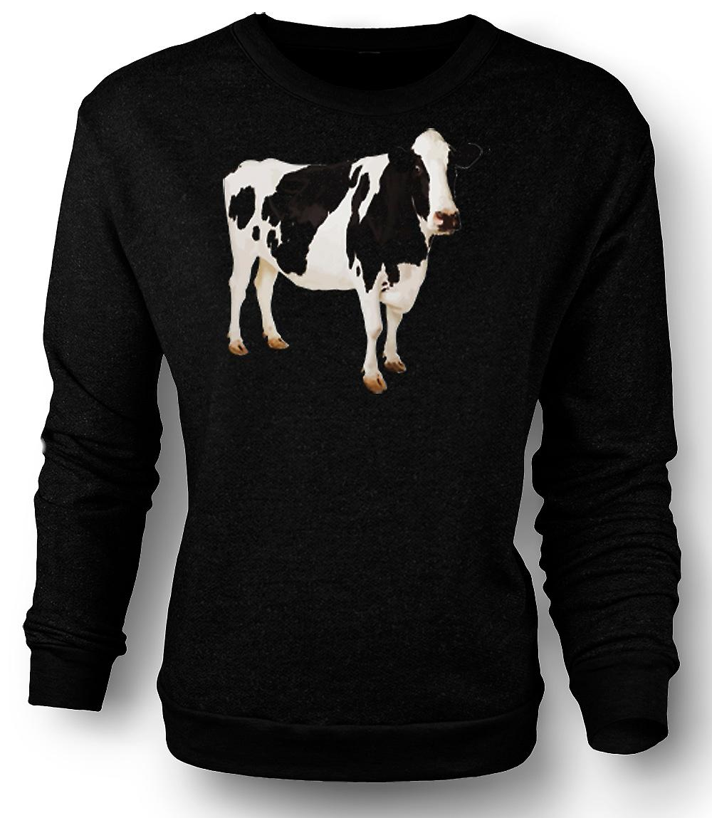 Mens Sweatshirt Friesian Cow - New
