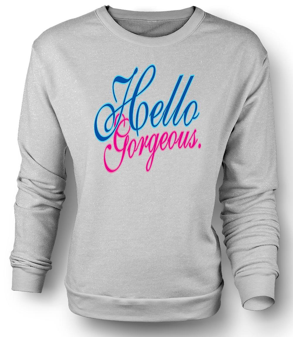 Mens Sweatshirt Hello Gorgeous - Funny Girl - Funny